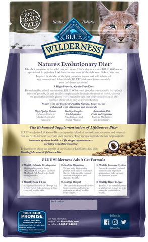 Blue Wilderness™ Nature's Evolutionary Diet Grain Free Chicken Adult Cat Food 2.5 Lbs
