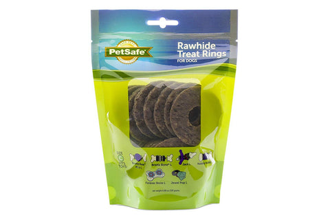 PetSafe Natural Rawhide Rings Dog Toy Treat Ring Refills
