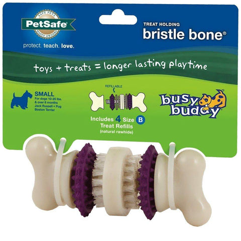 Image of PetSafe Busy Buddy Bristle Bone Dog Toy Chew Toy with Treats