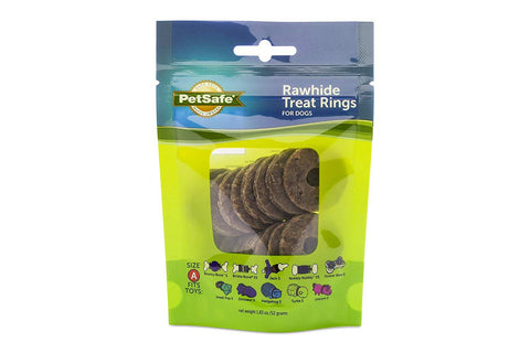 Image of PetSafe Natural Rawhide Rings Dog Toy Treat Ring Refills