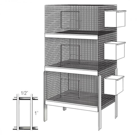 All Purpose Bird Cage, Galvanized