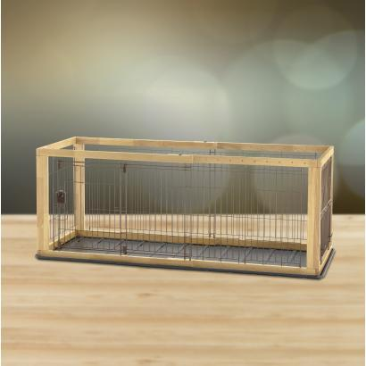 Richell Expandable Pet Crate Natural For Small And Medium Size Dogs