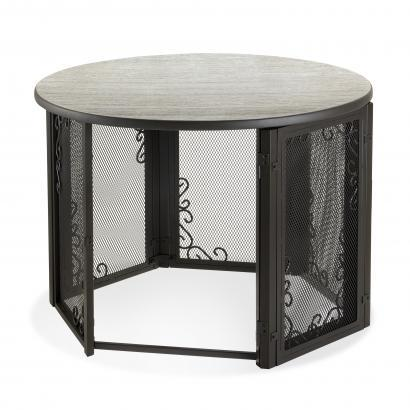 Richell Accent Table Pet Crate Elegant Furniture For Cats And Dogs Vintage Design