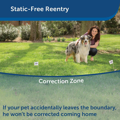 PetSafe Free to Roam Dog and Cat Wireless Fence from the Parent Company of INVISIBLE FENCE Brand  Above Ground Electric Pet Fence