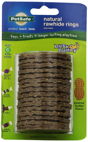 PetSafe Peanut Butter Flavor Rings Dog Toy Treat Ring Refills for Busy Buddy Dog Toys