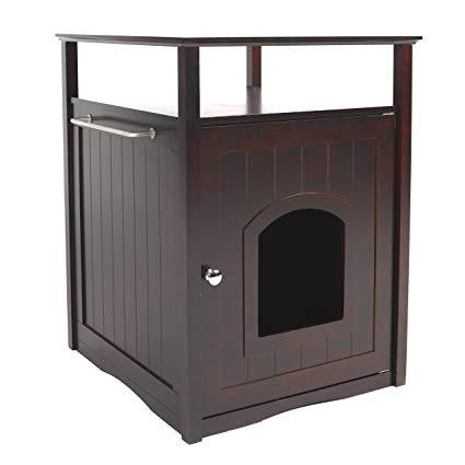 Image of Merry Products & Garden Cat Washroom Litter Box Cover / Night Stand Pet House