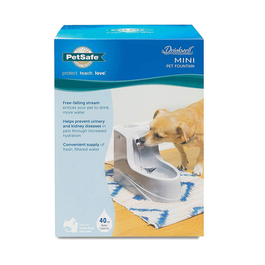 PetSafe Drinkwell Dog and Cat Mini Water Fountain 40 oz