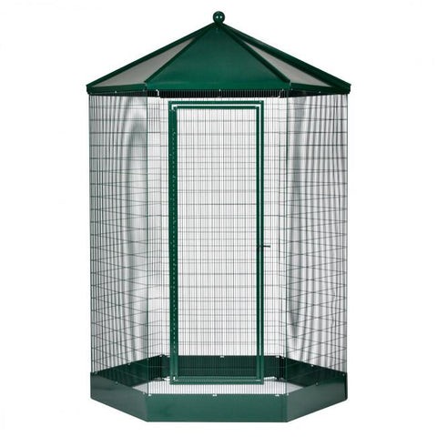 "Image of Manchester Hexagon Steel Aviary/ Bird Cage, 48"" x 94"" Powdercoated"