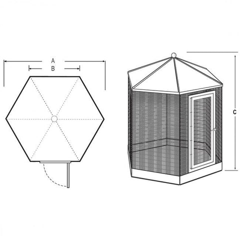 "Image of Hexagon Aviary, 84"" Powdercoated"
