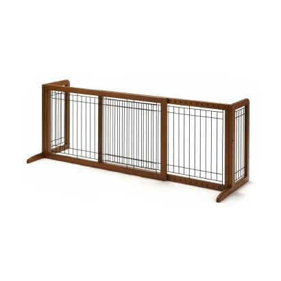 "Richell Freestanding Pet Gate For Large Dogs 39.8"" to 71.3"" Wide"