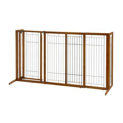 Richell Deluxe Freestanding Pet Gate Medium & Large Size Dogs