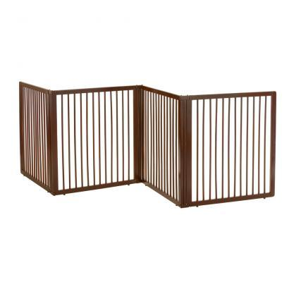 Wooden Room Divider Pet Gate For Small To Medium Dogs Up To 44 lbs