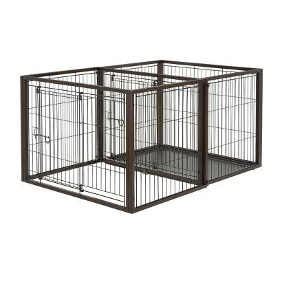 Richell Luxury Flip To Play Pet Crate From Crate to Playpen For Pet Dogs And Cats