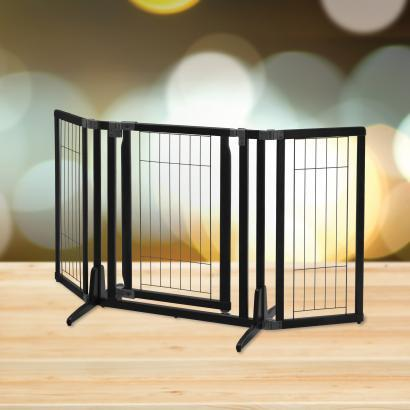 "Richell Pet Premium Plus Freestanding Gate For Dogs 63"" Wide"