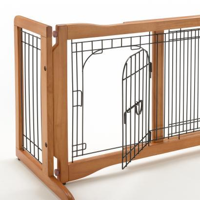 Richell Pet Sitter Freestanding Gate Plus For Dogs Up to 17 lbs