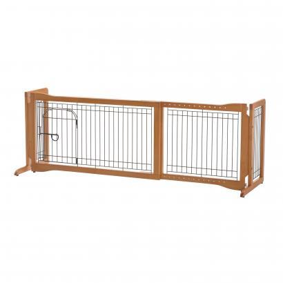 Image of Richell Pet Sitter Freestanding Gate Plus For Dogs Up to 17 lbs