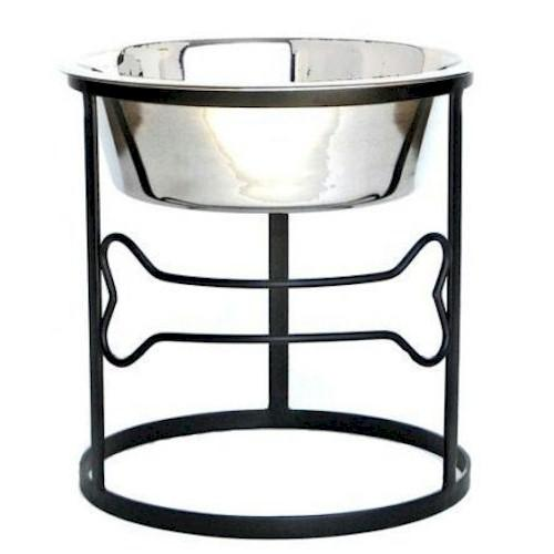 Pets Stop Pet Feeders-Bone Raised Dog Bowl