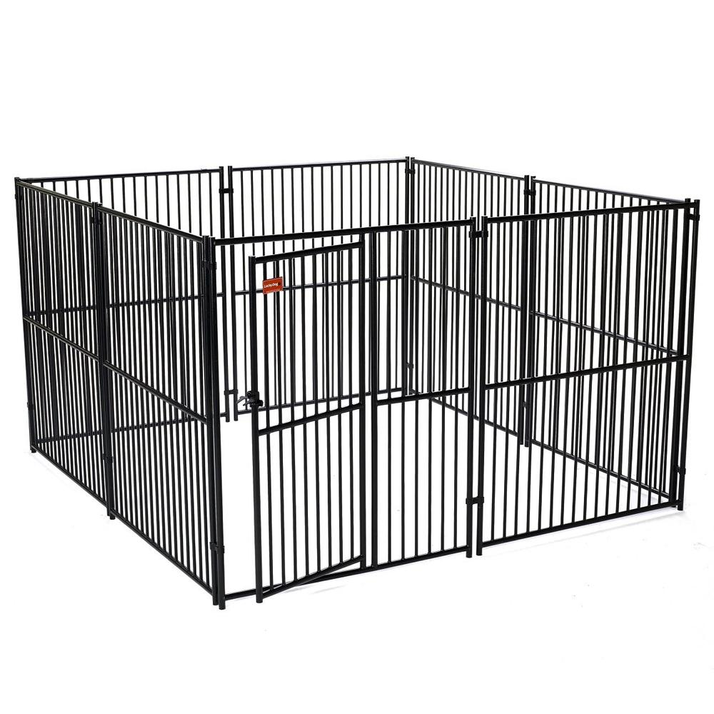 Lucky Dog™ 6'H x 10'W x 10'L Black European Style Modular Box Kennel
