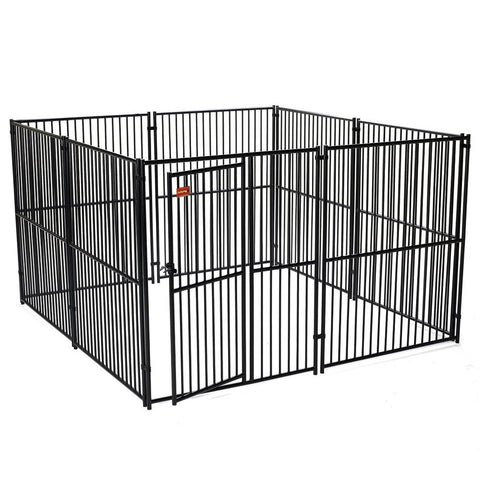 Image of Lucky Dog™ 6'H x 10'W x 10'L Black European Style Modular Box Kennel