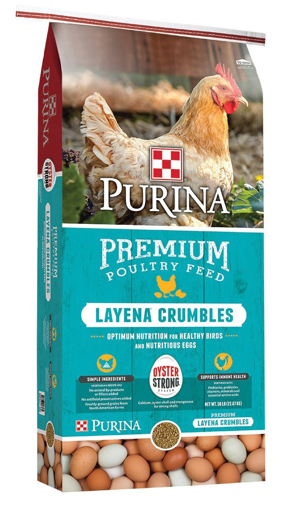 Purina Chicken Layena Crumbles, 50 lb.