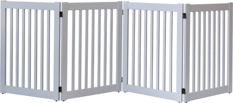 Image of 32 inch Highlander Series Solid Wood Pet Gate- Amish Handcrafted Wood