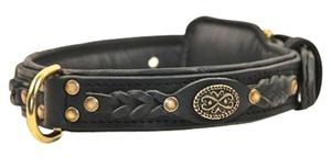 "Image of Leather Collar 18""-30""Collar Sizes Available For Dogs"