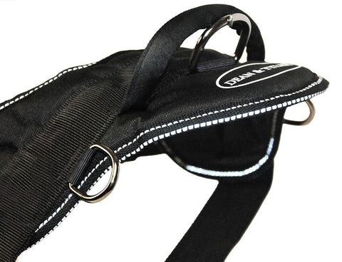Nylon Harness For Extra Extra Small To Extra Large Dogs Black With Reflective Trim