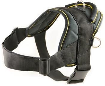 Nylon Harness For Extra Extra Small To Extra Large Dogs Black With Yellow Trim