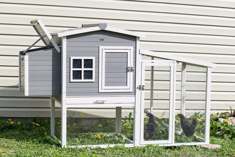 New Age Farm™ Hampton Chicken Barn and Pen in Grey