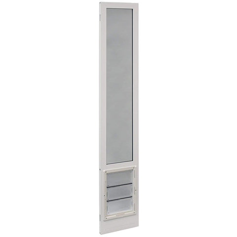 "92 3/4"" to 94 1/2"" Tall Insulated Pet Patio Door- VIP White Vinyl"