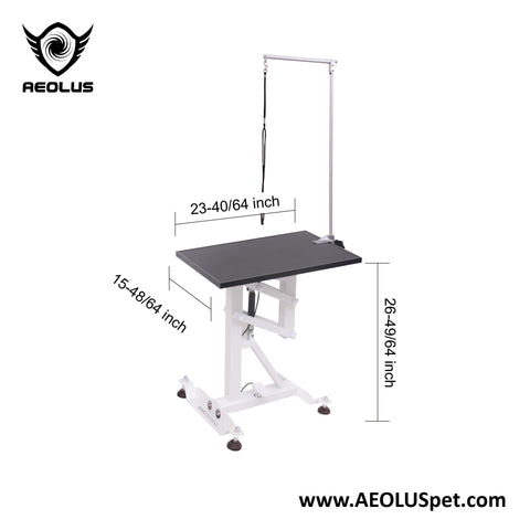 Aeolus Flat Packing Air Lift Grooming Table