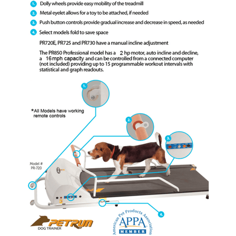 Exercise Treadmill For Small Dogs And Cats up to 44 lbs-GoPet PetRun PR700 Pet Treadmill