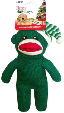 "10"" Holiday Sock Monkey"