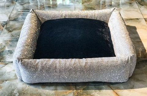 Image of Luxurious Imperial Crystal Rhinestone Large Dog Bed