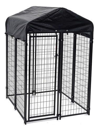 Image of Lucky Dog™ 6'x 4' x 4' Uptown Welded Wire Kennel With Cover and Frame