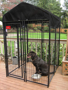 Lucky Dog™ 6'x 4' x 4' Uptown Welded Wire Kennel With Cover and Frame