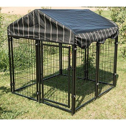 "Image of Lucky Dog Pet Resort Kennel w/Cover - 52""H x 4'W x 4'L"