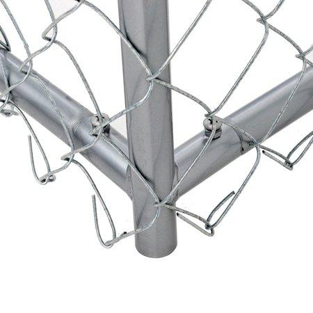 Image of Lucky Dog™ 4'H x 5'W x 10'L or 4'H x 8'W x 6.5'L  Boxed Kennel Chain Link