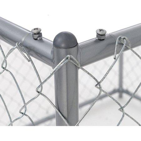 Lucky Dog™ 4'H x 5'W x 10'L or 4'H x 8'W x 6.5'L  Boxed Kennel Chain Link