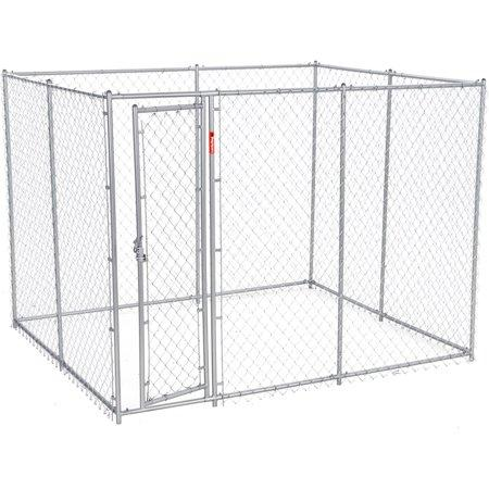 Image of Lucky Dog™  Chain Link Boxed Kennel 6'H x 5'W x10'L or 6'H x 8'W x 6.5'L