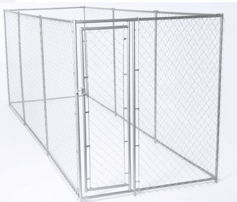 "Image of Lucky Dog™Galvanized Chain Link Kennel  6'H x 5'W x 15'L or 10'W x 10""L"