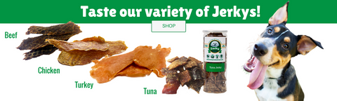 100% Natural Tuna Jerky Fillets For Dogs and Cats - 8 oz. Tall Jar