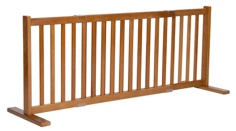 "Image of 20"" Kensington Series Freestanding Solid Wood Pet Gate- Amish Handcrafted Wood"