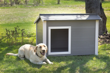 New Age Pet® ECOFLEX® Thermocore Insulated Canine Cabin Dog House - Grey- X- Large
