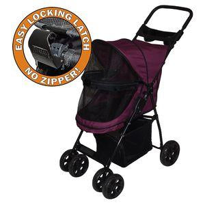 Pet Gear- Happy Trails NO ZIP  Single/ Double Pet Stroller For Dogs/Cats