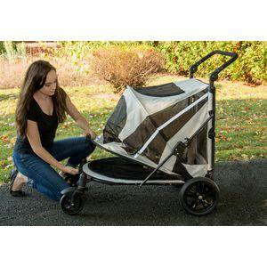 Image of Pet Gear Single And Multiple Pet Stroller- NO-ZIP Expedition