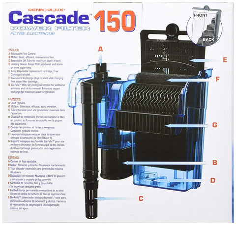 Penn Plax Cascade Aquarium Filter up to 100 gallons
