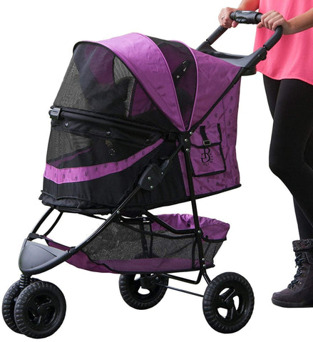 No-Zip Pet Stroller- Pet Gear 3 Wheel Special Edition Pet Stroller- Comes In Chocolate, Orchid and Sage