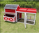 Merry Products & Garden Red Barn Chicken Coop with Roof Top Planter