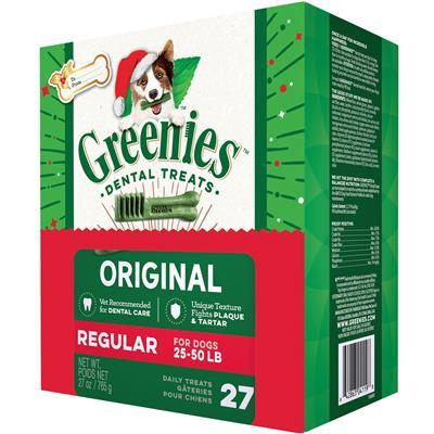 Greenies Original Dental Treats- Regular bones- 27 oz. Tub Pak - 27 count